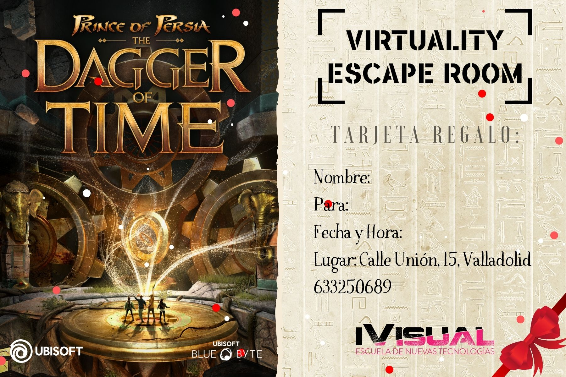 Tarjeta-regalo-Prince-Of-Persia-The-Dagger-Of-Time-Virtuality-Escape-Room