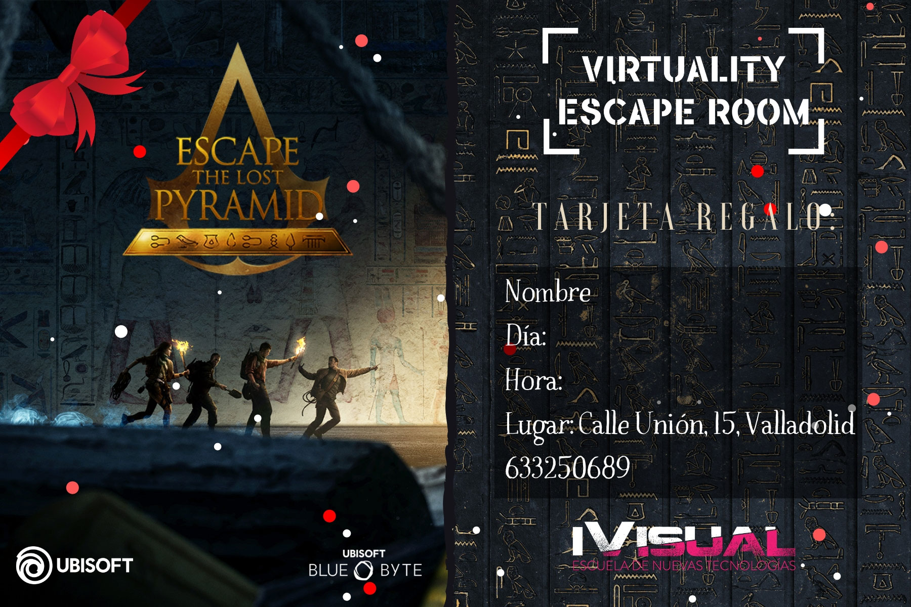 Tarjeta-regalo-Escape-The-Lost-Pyramid-Virtuality-Escape-Room